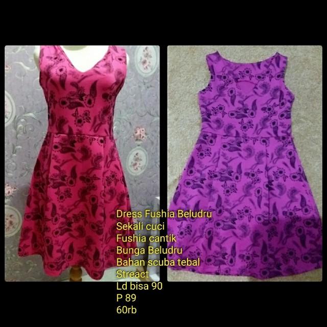 Dress Fushia Beludru