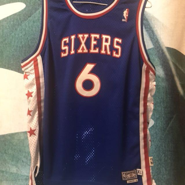 Dr.J YXL 復古 七六人 球衣 NBA IVERSON