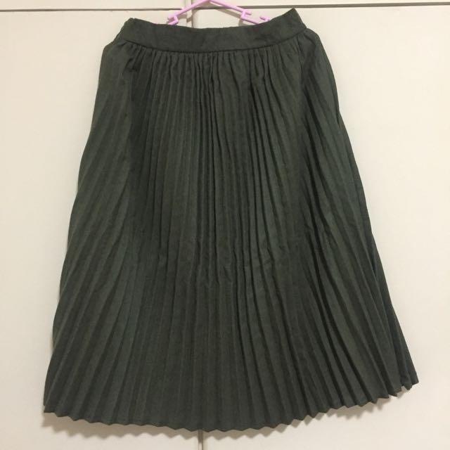 Editor's Market Olive Green Skirt