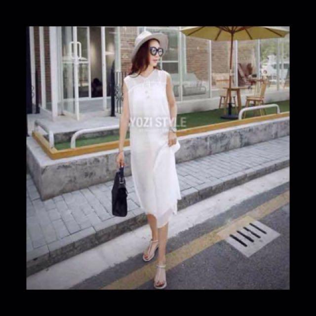 Elegant White Maxi Dress