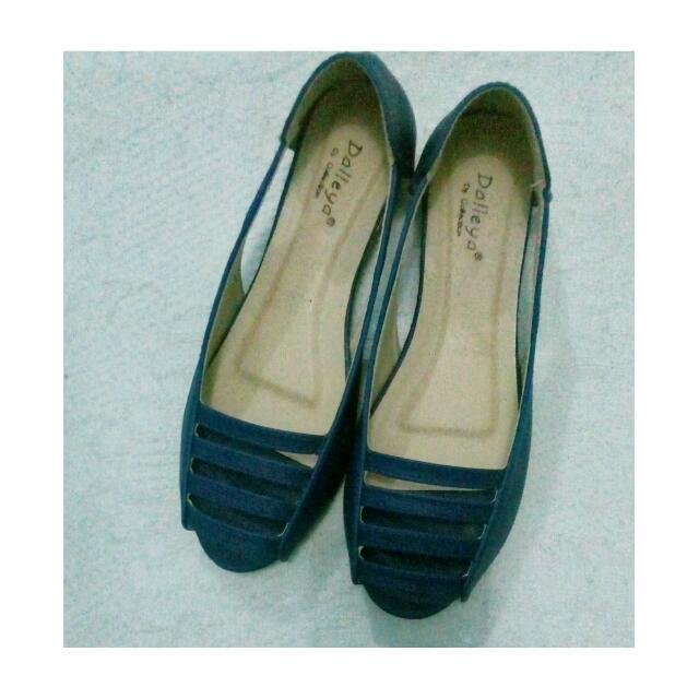 Flatshoes Garis Navy