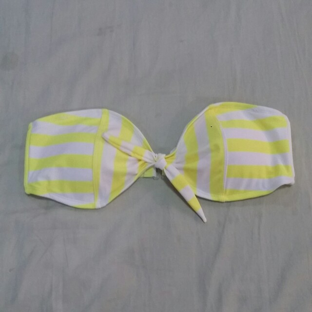 Forever 21 Striped Bandeau Bikini Top