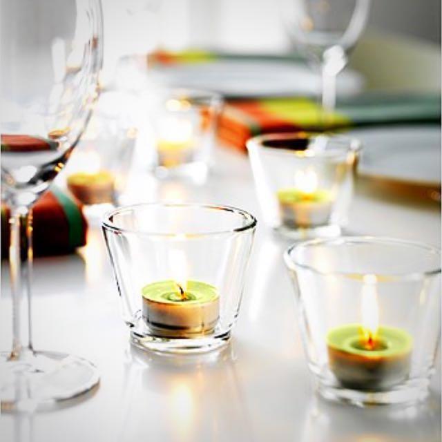 (全新)GALEJ 4件組俄羅斯製 小玻璃燭台 小玻璃杯 甜點杯 小花瓶杯