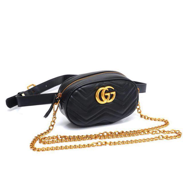 dac02dbf77ef GG Marmont Matelasse Belt Bag., Women's Fashion, Bags & Wallets on Carousell