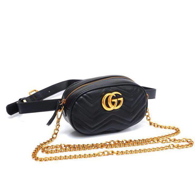 34cd1c26809 GG Marmont Matelasse Belt Bag.