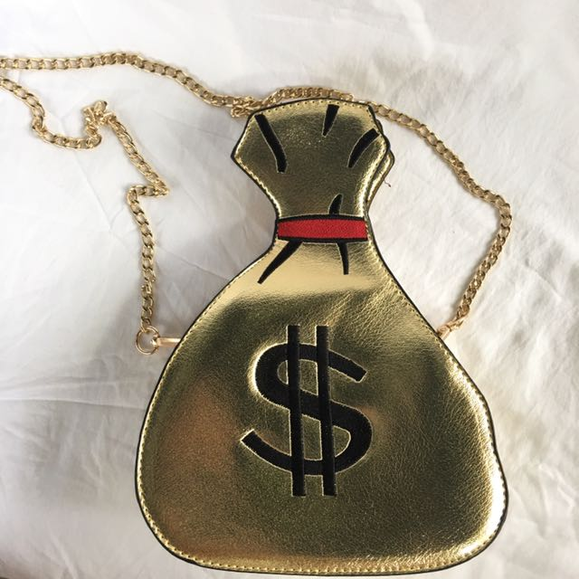 Gold Money Bag Novelty Bag
