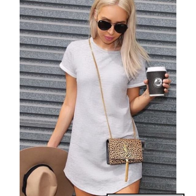 Grey Size Small (8) Dress Worn By @Sydneyfashionblogger