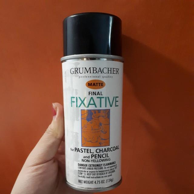grumbacher final fixative matte design craft craft supplies