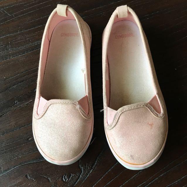 美國知名品牌Gymboree 粉色閃亮休閒鞋