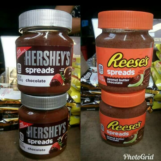 Hersheys and reeses spread