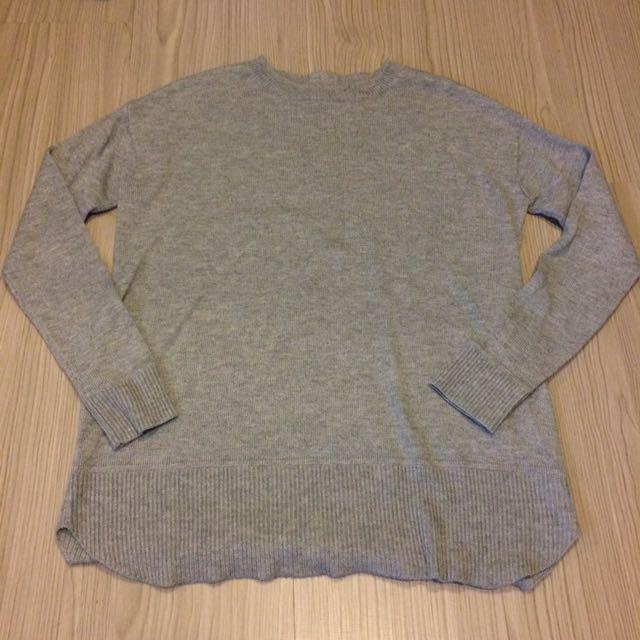 h&m 灰色針織上衣