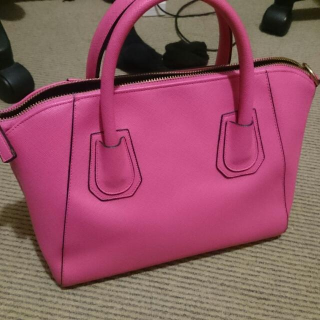 Hot Pink Hand Bag Good Quality