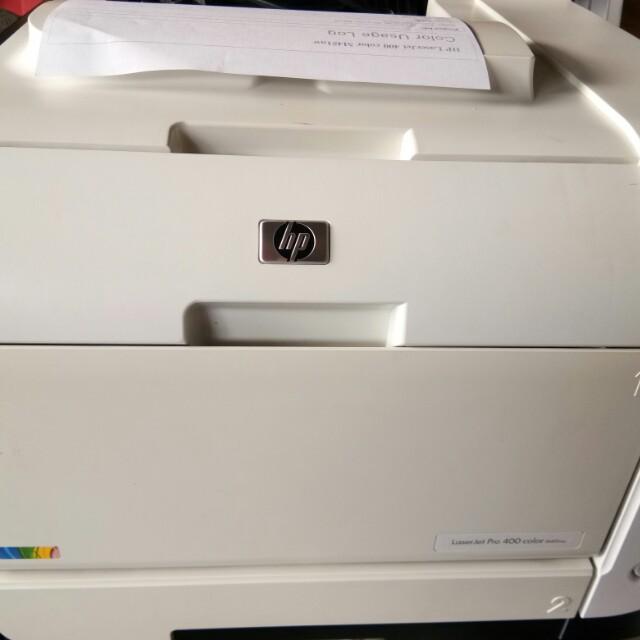 Hp laserjet pro 400 color printer