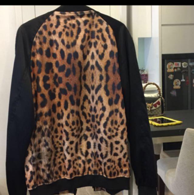 INC postage Zara man leopard jacket