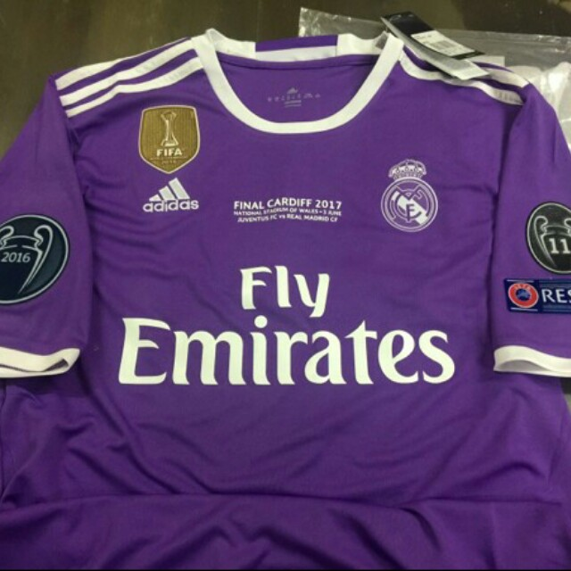 a8f08502a84 JERSEY REAL MADRID AWAY FINAL UCL FULLPATCH UCL + MDT GRADE ORI ...