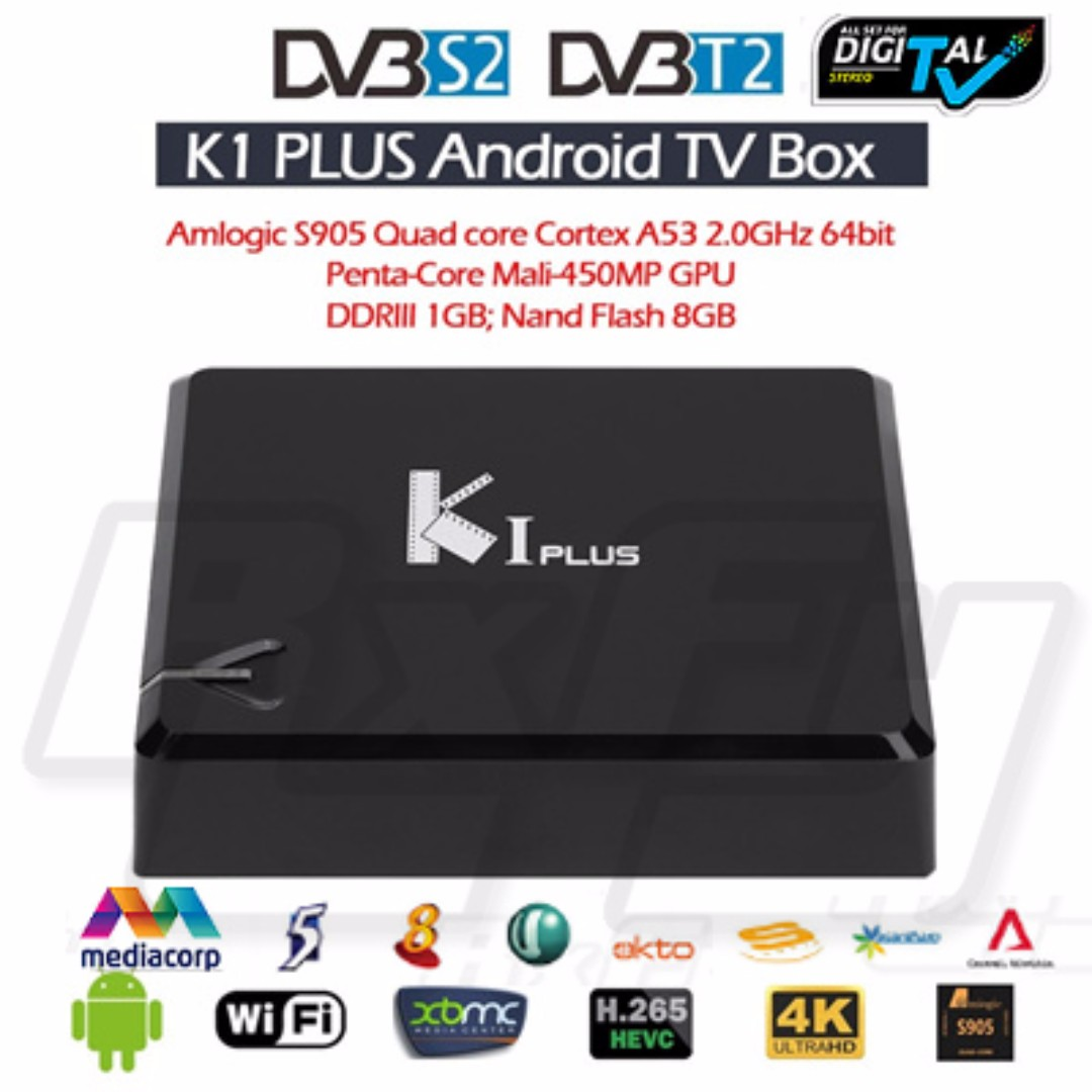 KI PLUS Android Digital TV Box DVB T2 S2 Wireless Record TV DVR PVR Android  Lollipop 4K HD Youtube XBMC Smart Media Player