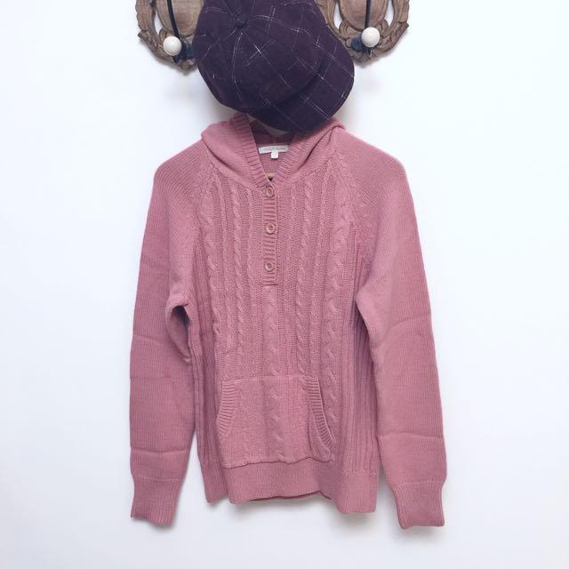 Lativ 粉色連帽上衣