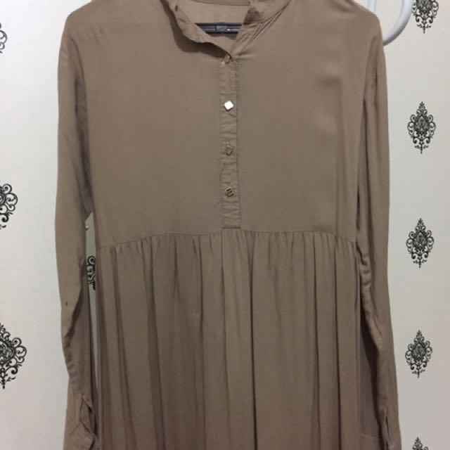 Long Dress khaki size fit to XL