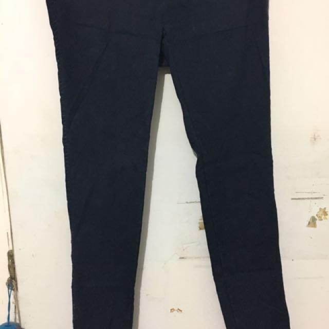 深藍彈性褲M號