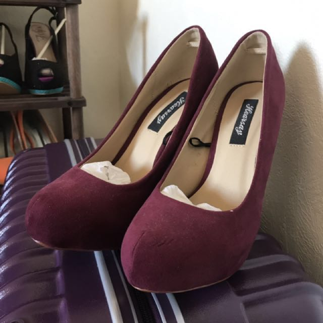 Maroon High-heels Shoes