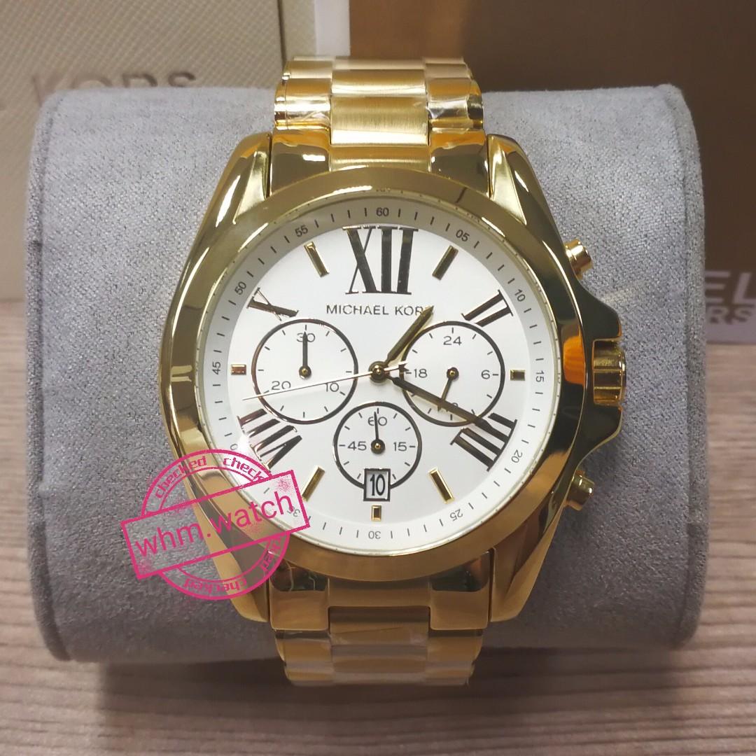 afd58b84c944 MICHAEL KORS Oversize Bradshaw Gold-Tone Watch Style  MK6266 ...