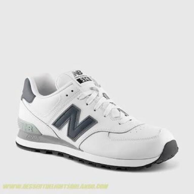 New Balance 574 white leather and Navy size 6 mens