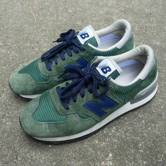 New balance M990 美製 藍色綠色 麂皮 復古 vintage 美國製 二手 非996 997 998 經典 USA