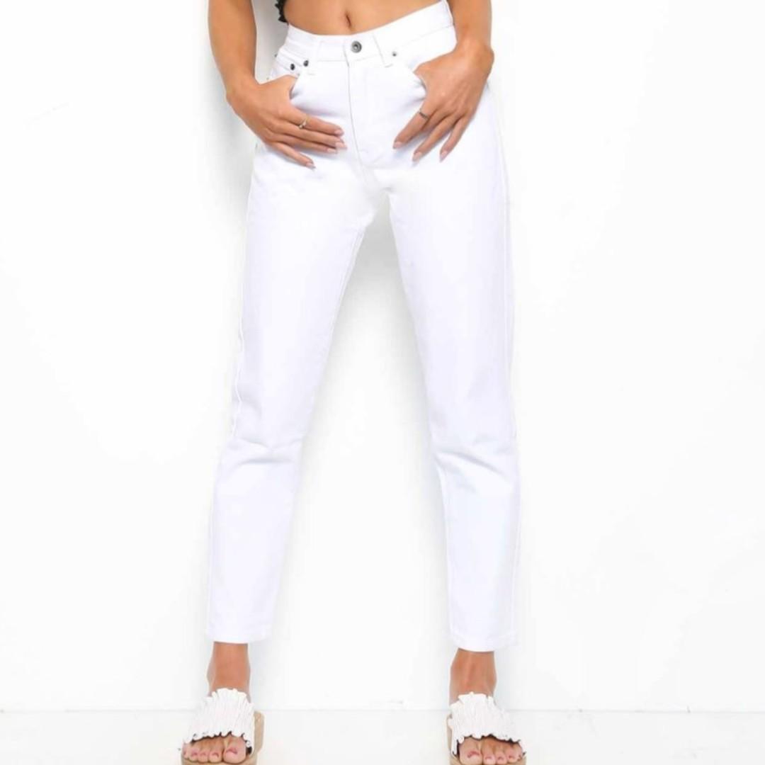 NEW Tiger Mist White Brooklyn Jean - shop rachelteetyler wardrobe