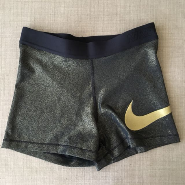 Nike Pro Gold Metallic shorts M