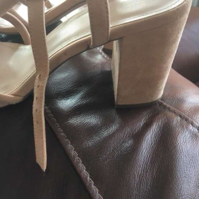 Nude sandals with heels size 9