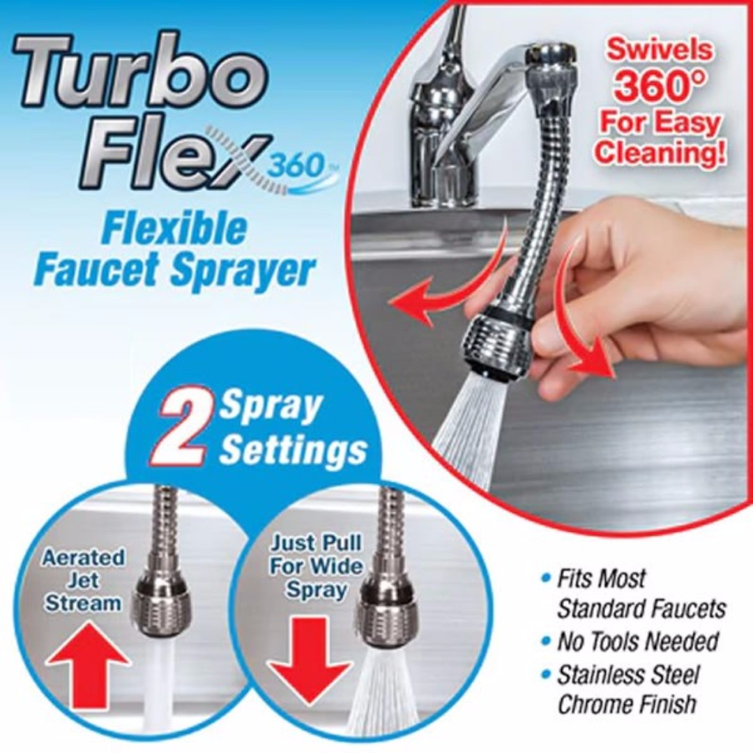 TURBO FLEX 360 / Flexible Faucets For Kitchen Sink Tap / 360 Degree ...