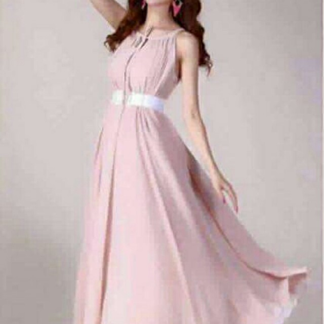 old rose chiffon dress