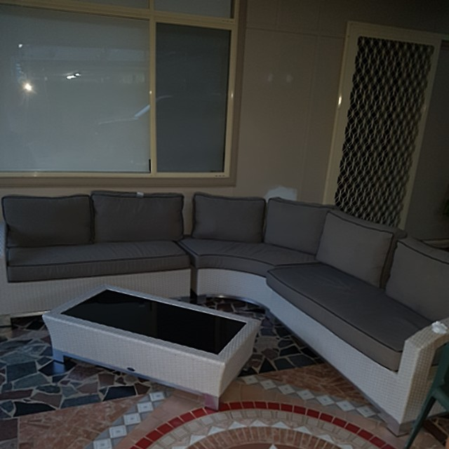 Outdoor sofa and coffee table set