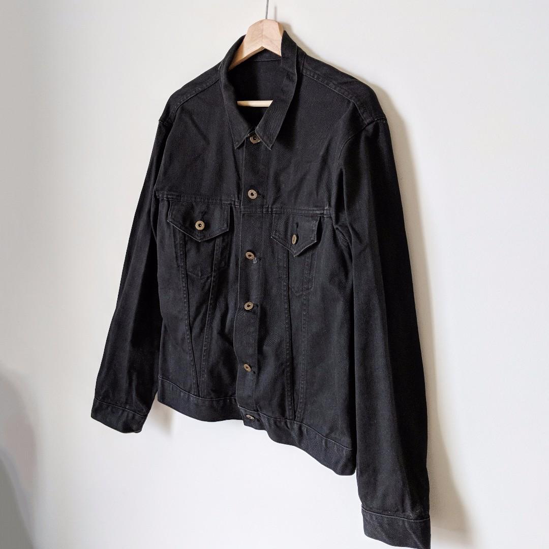 Oversized Black Denim Jacket - shop rachelteetyler wardrobe