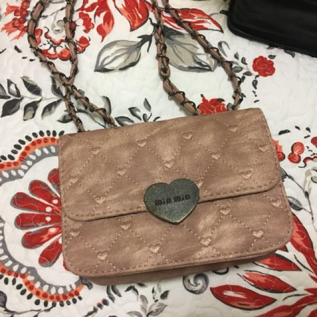 Pink small handbag