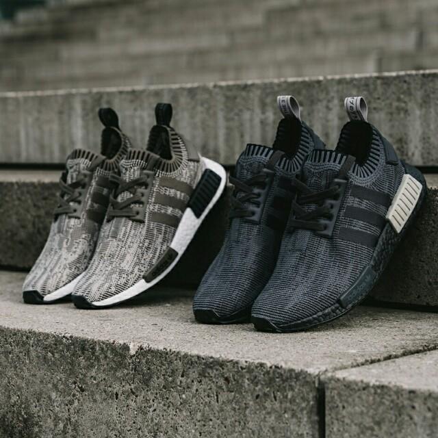 65142e21 PO) Adidas Mens NMD R1 PK Glitch black and Sesame, Bulletin Board ...