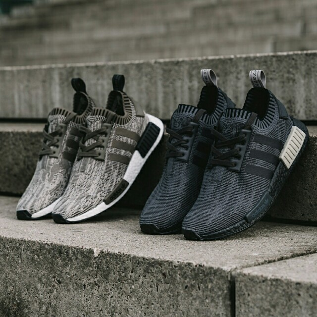 PO) Adidas Mens NMD R1 PK Glitch black