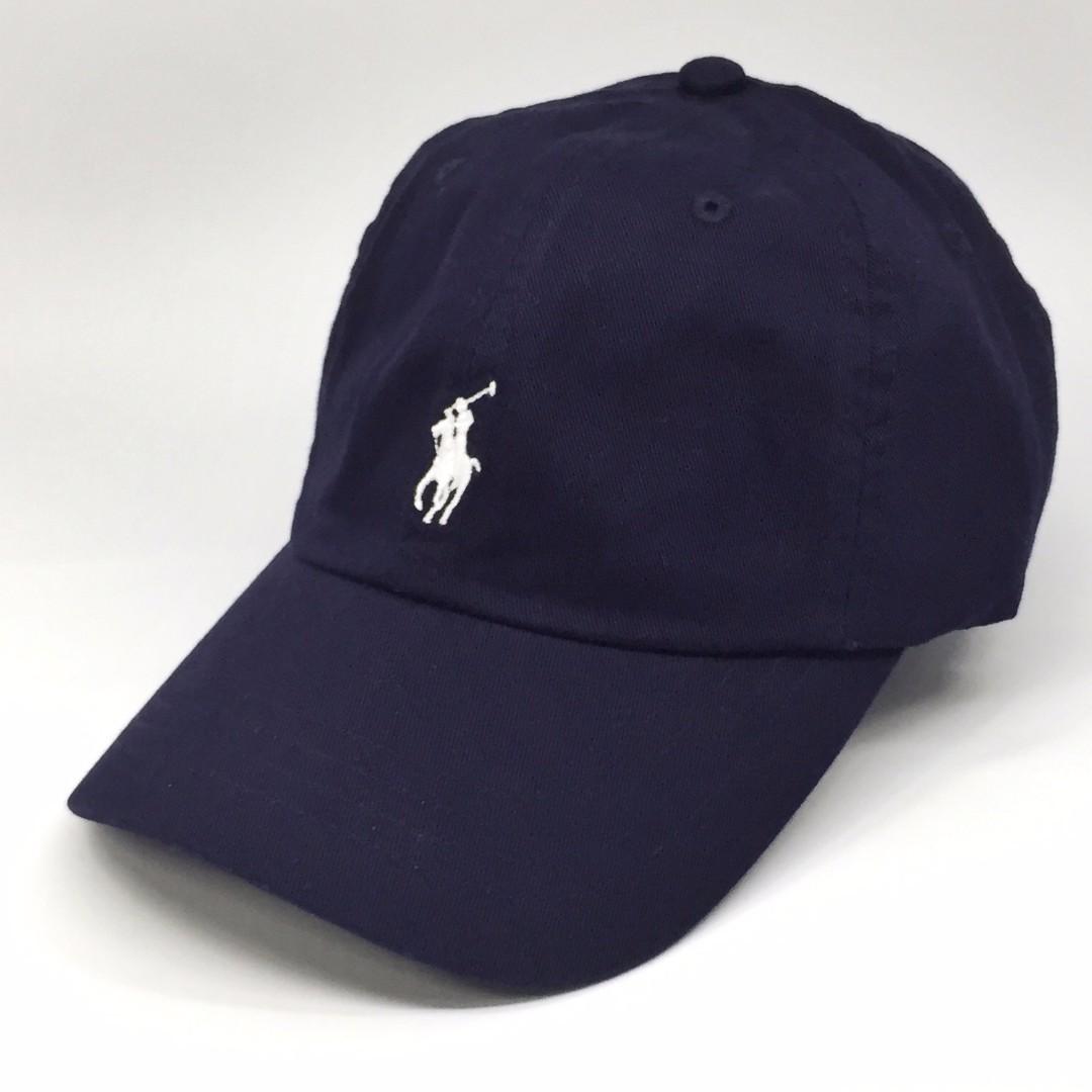 Polo Ralph Lauren Baseball Cap Navy White Pony Cotton Chino 34b4dde2d077