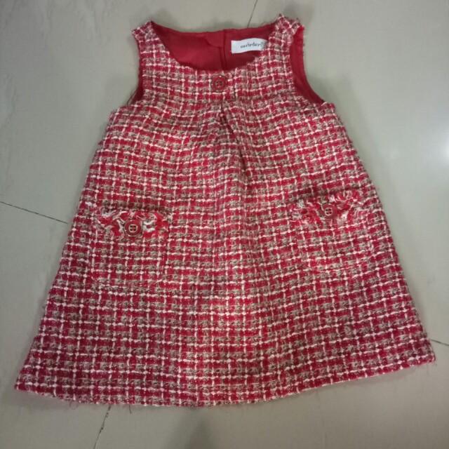 Pre❤ baby dress 6-24 m