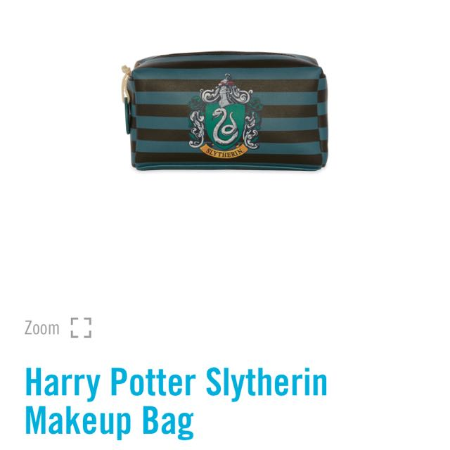🌹PRIMARK HARRY POTTER GRYFFINDOR / SLYTHERIN MAKE UP BAG POUCH CASE