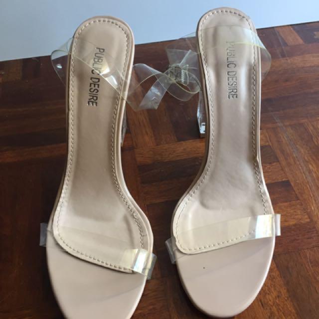 Public desire clear heels UK 7 (40)