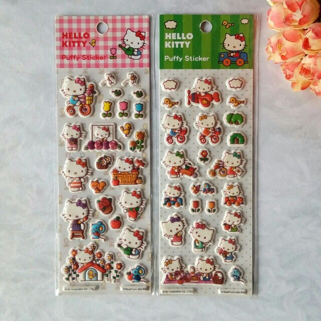 Puffy sticker hello kitty