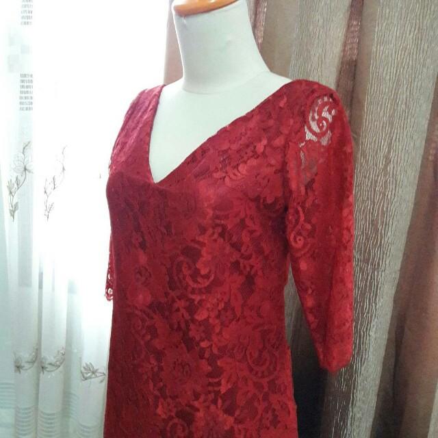 Red kebaya dress