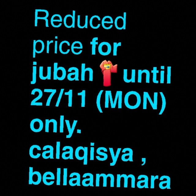 Reduced jubah