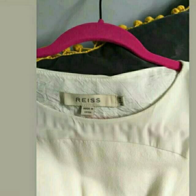 Reiss Ivory Silk Dress Uk Size 6 Xs