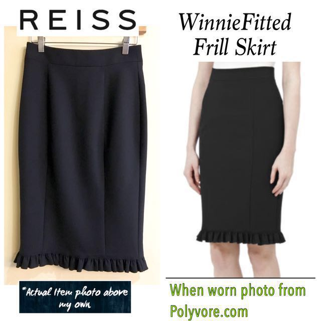 REISS Winnie Fitted Frill Skirt (US 4 / 26in)