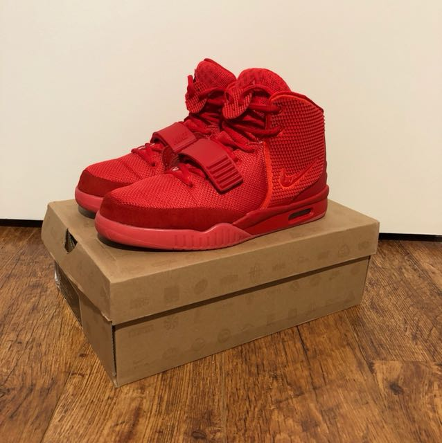 online retailer d3ad8 33780 REPLICA Nike Yeezy 2 Red October, Men s Fashion, Footwear on Carousell