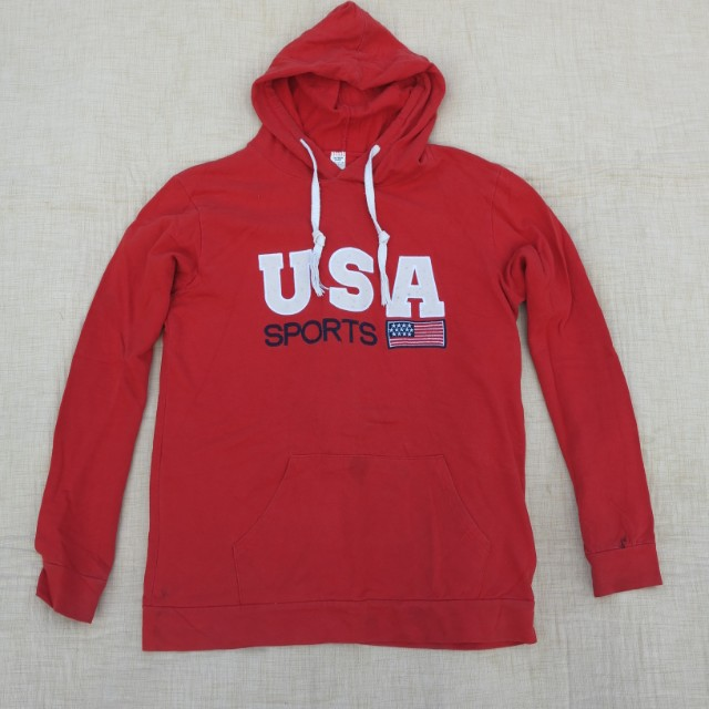 sweater USA SPORT red