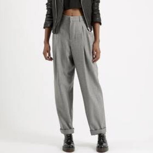 Topshop light wool mensy trousers