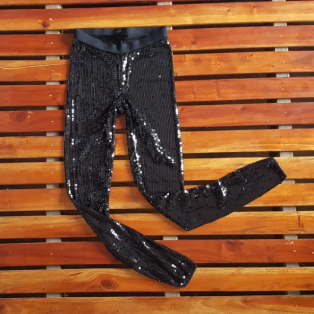 Free shipping fee TOPSHOP SEQUINED LEGGINGS